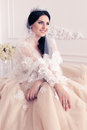 Gorgeous Bride In Luxurious Wedding Dress With Accessories Stock Photos - 74411423