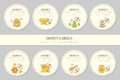 Vector Label Template Design - Natural Honey Collection Stock Photo - 74417040