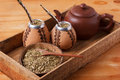Mate In A Traditional Calabash Gourd With Bombilla Stock Photos - 74430903