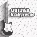 Guitar Background. Set Of Musical Instruments. Royalty Free Stock Photography - 74434387