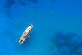 Yacht In The Blue Sea. Stock Images - 74438014