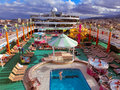Messina, Italy - May 05, 2014: The Upper Deck Of The Cruise Ship Norwegian Jade By NCL Stock Photo - 74441800