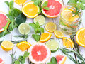 Iced Mint Tea With Lemon Royalty Free Stock Image - 74452906