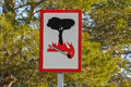 Fire Danger Road Sign In The Background Of Pine Tree. Royalty Free Stock Photos - 74464748