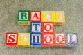 Back To School Written With Wooden Cubical Letters Royalty Free Stock Photos - 74495338