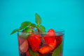 Strawberry Mojito Cocktail Royalty Free Stock Image - 74496796