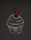 Cherry Cupcake. Stock Images - 74502924