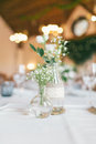 Wedding Decorated Bottle With Flower Royalty Free Stock Images - 74503859