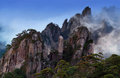 View Of Huangshan From Cooling Terrace, Anhui, China Stock Photo - 74510360