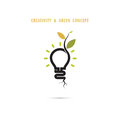 Plant Growing Inside The Light Bulb Logo Royalty Free Stock Images - 74524929