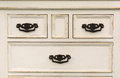 Vintage Wooden Chest Of Drawers With Black Metal Handles Open Royalty Free Stock Photo - 74591105