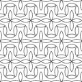 Vector Modern Abstract Geometry Floral Pattern. Black And White Seamless Geometric Background Royalty Free Stock Photo - 74595945