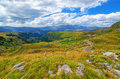 Montenegro, National Park Durmitor, Mountains And Clouds Panorama. Sunlight Lanscape. Nature Travel Background Royalty Free Stock Photo - 74606795