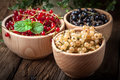 Redcurrant, Blackcurrant, White Currant Fruit. Royalty Free Stock Photo - 74616085
