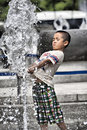 Having Fun In Summer Fountain Royalty Free Stock Images - 74626389