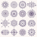 Set Of Sacred Geometry Signs Royalty Free Stock Image - 74653126