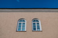 Two Arched Windows Stock Image - 74658471