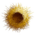 Vector Empty Birds Nest. Top View Royalty Free Stock Photography - 74672507