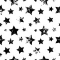 Seamless Vector Pattern. Creative Geometric Black And White Background With Stars. Stock Image - 74678581