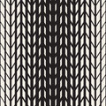Vector Seamless Black And White Tire Halftone Lines Geometric Pattern Stock Photo - 74682780