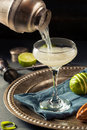 Alcoholic Lime And Gin Gimlet Stock Image - 74689561