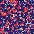 Tiny Spring Flowers Doodle Drawing Pattern Royalty Free Stock Image - 74702036