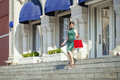 Young Brunette Woman With Some Shopping Bags Stock Photos - 74718883