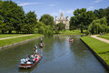 View Of St. John S College And The River Cam Stock Photos - 74723403