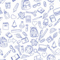 Back To School Illustration On School Notebook Sheet Of Paper. Stock Photo - 74739600