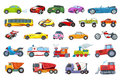 Vector Set Of Transport Vehicles Illustrations. Royalty Free Stock Image - 74744256