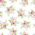 Seamless Floral Pattern With Pink Roses Stock Photo - 74763260