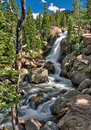 Alberta Falls In Rocky Mountain National Park Stock Image - 74777471