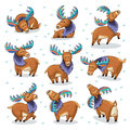Set With Hand Drawn Elks Stock Photo - 74784250