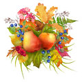 Watercolor Autumn Composition Royalty Free Stock Images - 74787089