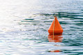 Red Buoy On The Sea Waves Stock Image - 74789721