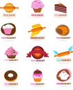 Collection Of Pastry  Logos Stock Image - 7486081