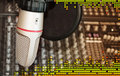 Studio Recording Microphone With Sound Equalizer Royalty Free Stock Image - 7489426