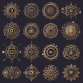 Sacred Geometry Forms With Eye, Moon And Sun Royalty Free Stock Images - 74804469
