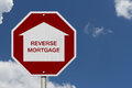 Stop Reverse Mortgage Borrowing Road Sign Stock Images - 74805624