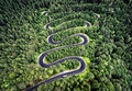 Curvy Road From The High Mountain Pass In Transfagarasan, Romania. Royalty Free Stock Photography - 74818187