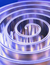 Metal Spiral Polished Metal. Shallow Depth Of Field. Stock Images - 74824014