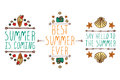 Set Of Summer Hand-sketched Elements Royalty Free Stock Photography - 74828017
