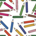 Seamless Pattern Background Pencil. School Design Vector. Study Wallpaper. Stock Photography - 74829082