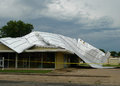 Metal Roof Storm Damage, Commercial Building Stock Photos - 74860163
