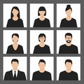 Avatar Profile Picture Icon Set Including Male And Female Royalty Free Stock Photography - 74860487