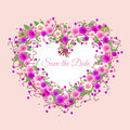 Floral Heart. Royalty Free Stock Photos - 74874298
