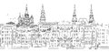Moscow, Russia - Seamless Banner Royalty Free Stock Images - 74910399