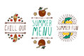 Set Of Summer Hand-sketched Elements Royalty Free Stock Image - 74913666