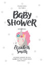 Baby Shower Poster Royalty Free Stock Photos - 74941378