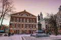 Faneuil Hall And The Boston Skyline Stock Image - 74945461